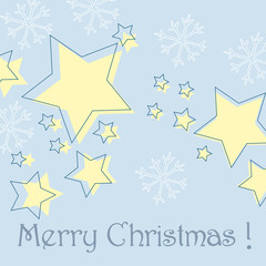 Vector Cute Christmas greeting card