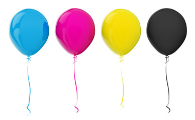 Balloons. CMYK colors