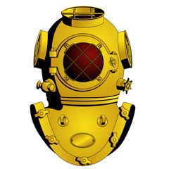 Retro diving helmet