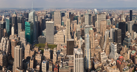 Big Panorama of Manhattan Skyscrapers