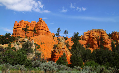 Red rock formations in Utah near Bryce canyon