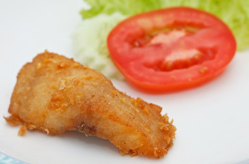 Fried fish and vegetable, Thai style food