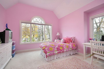 Pink girl's room