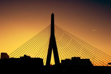 Canvas Prints Bridge Zakim bridge at sunset