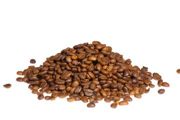 Coffee bean pile