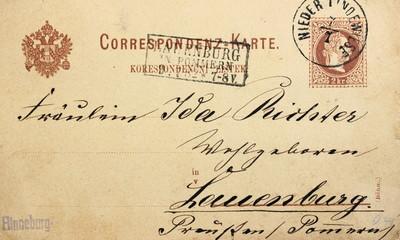Postkarte von 1882