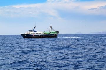 fishing trawler professional boat working