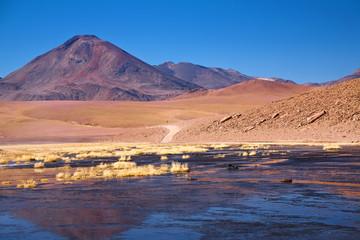 stratovolcano Cerro Colorado near Rio Putana, Chile