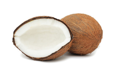Coconut, isolated on white