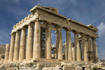 The Parthenon atop Acropolis in Athens, Greece