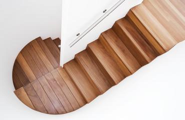 Fototapeten Treppe luxurious wooden staircase