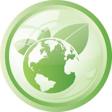 Symbole globe terrestre