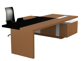 Office furniture, isolated