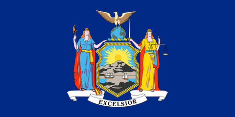 Wall Mural - New York state flag