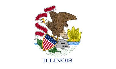 Fototapete - Illinois state flag