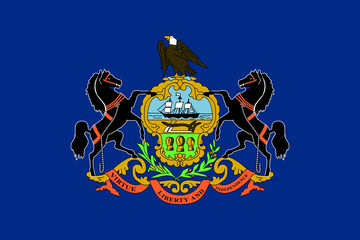 Wall Mural - Pennsylvania state flag