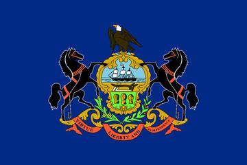 Fototapete - Pennsylvania state flag