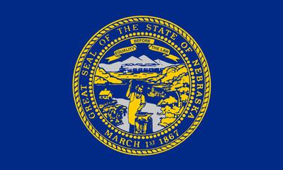 Fototapete - Nebraska state flag