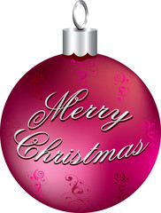 Shiny Pink and Silver Ornament