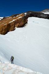 Climbing the Shasta mount