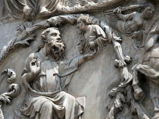 Orvieto Duomo facade. The third pillar