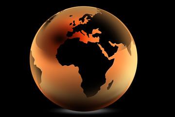 La terre dans une goutte d'eau