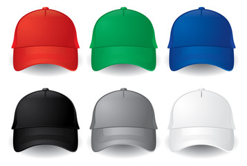 Vector baseball caps