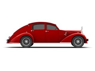 Fototapeta classic car  3d renderings obraz