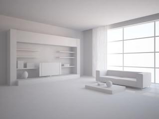grey 3d interior