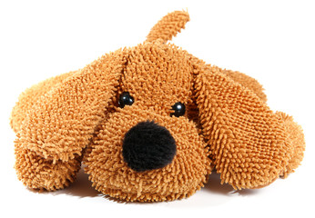 Puppy toy isolated on white