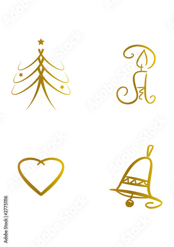 clipart set weihnachtliche symbole stockfotos und. Black Bedroom Furniture Sets. Home Design Ideas
