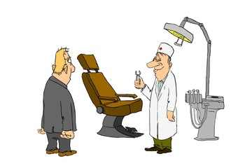 cartoon, comic, caricature, collection, dentist, doctor