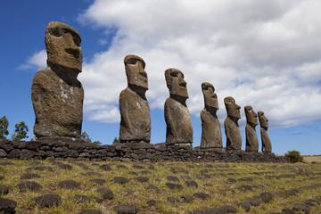 Ahu Akivi, easter island, chile, Moai