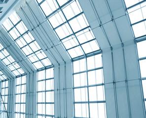 transparent light ceiling inside shopping mall