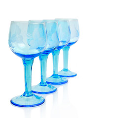 Wine glasses isolated on a white background