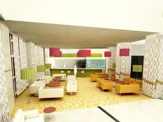 albergo zona bar rendering