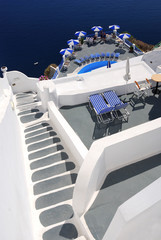 Santorini traditional stairs