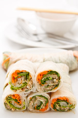 Vegetable rolls in Vietnamese style