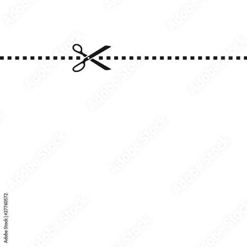 Ciseaux pointill s photo libre de droits sur la banque d 39 images image 27760572 - Un ciseau ou des ciseaux ...