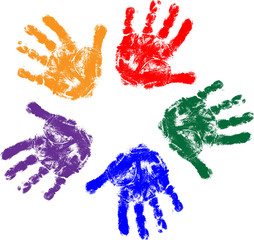 Kids hands prints