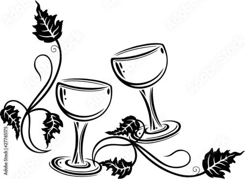 wein weinrebe ranke weingl ser wine stockfotos und. Black Bedroom Furniture Sets. Home Design Ideas