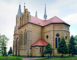 Neo-Gothic Saint Anne Church in Krynki / Poland