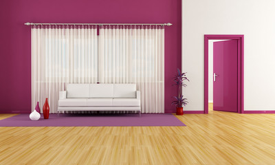purple and white lounge