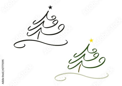f r design logo etc weihnachtsbaum 2 farbversionen. Black Bedroom Furniture Sets. Home Design Ideas