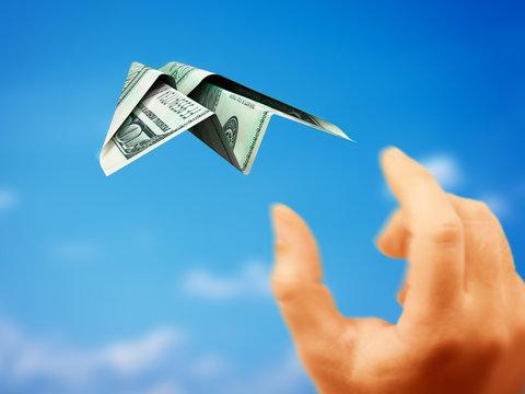 paper plane money