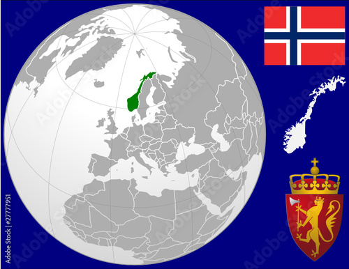 Norway globe map locator world flag coat stock image and royalty norway globe map locator world flag coat gumiabroncs Images