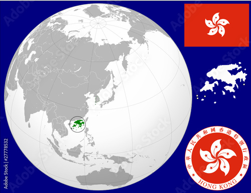 Hong kong globe map locator world flag coat stock image and royalty hong kong globe map locator world flag coat publicscrutiny Image collections