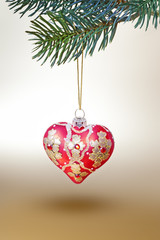 red christmas heart