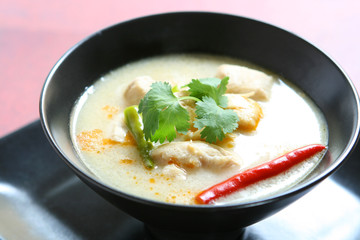 Tom Kha (Thai Chicken Coconut Soup)