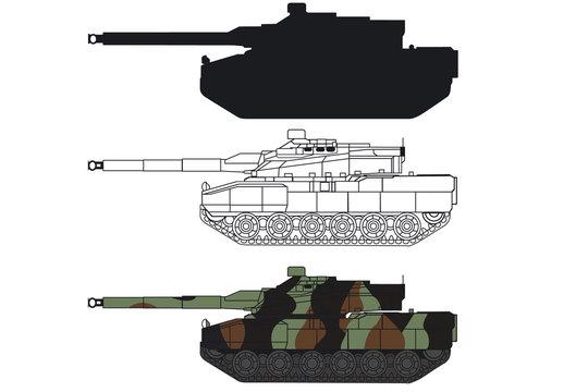 Silhouette char Français Leclerc